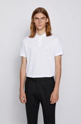 Poloshirt aus Bio-Baumwoll-Piqué, Weiß