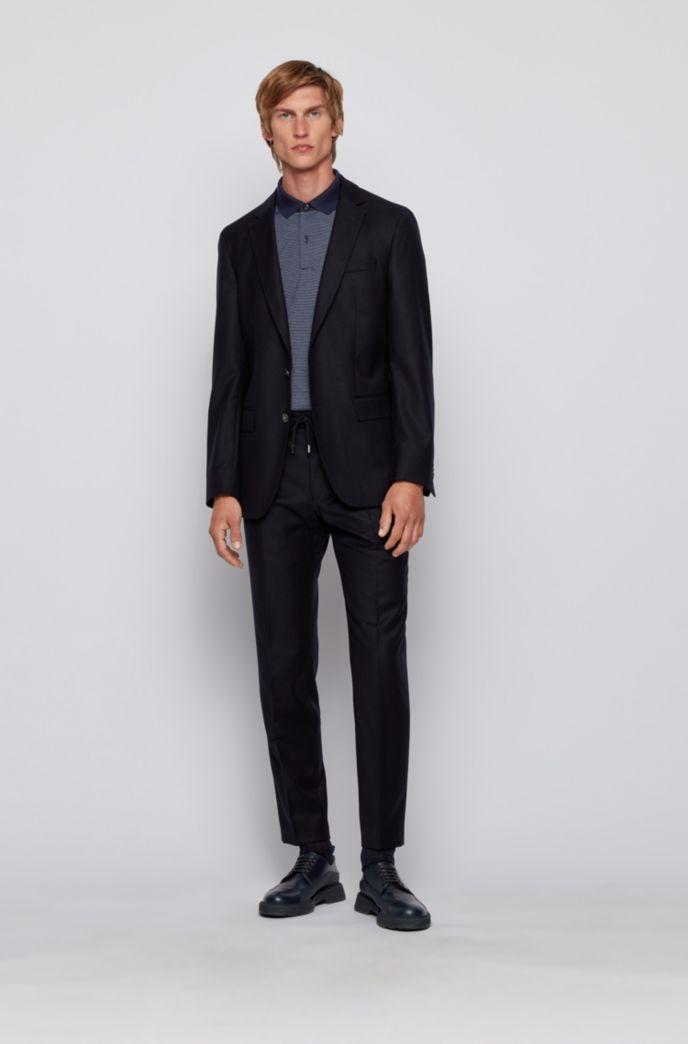 Polo Slim Fit en coton à motif