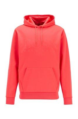 Kapuzen-Sweatshirt aus zweiseitigem, recyceltem Stretch-Gewebe, Hellrosa
