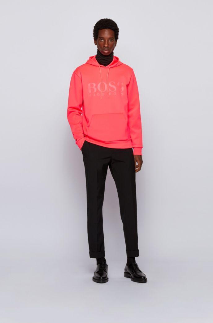 Kapuzen-Sweatshirt aus zweiseitigem, recyceltem Stretch-Gewebe