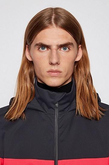 男士拼接款连帽外套,  001_黑色