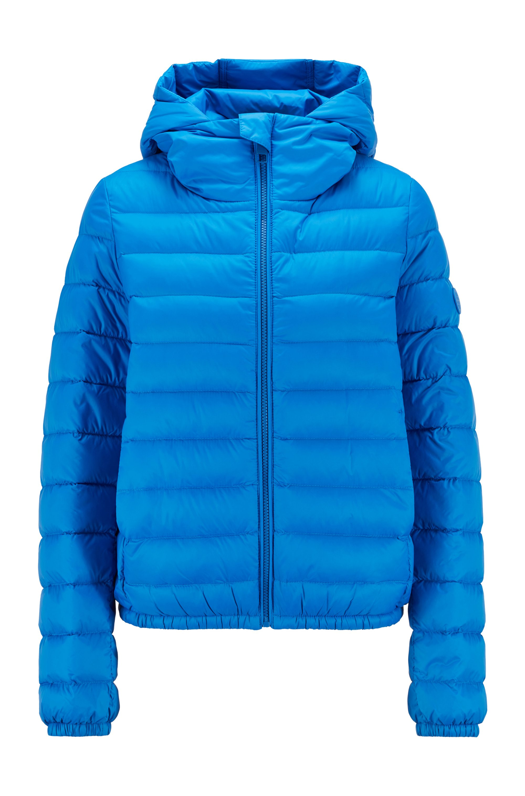 Packable down jacket in water-repellent fabric , Blue