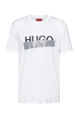 Regular-fit T-shirt with new-season logo artwork, White