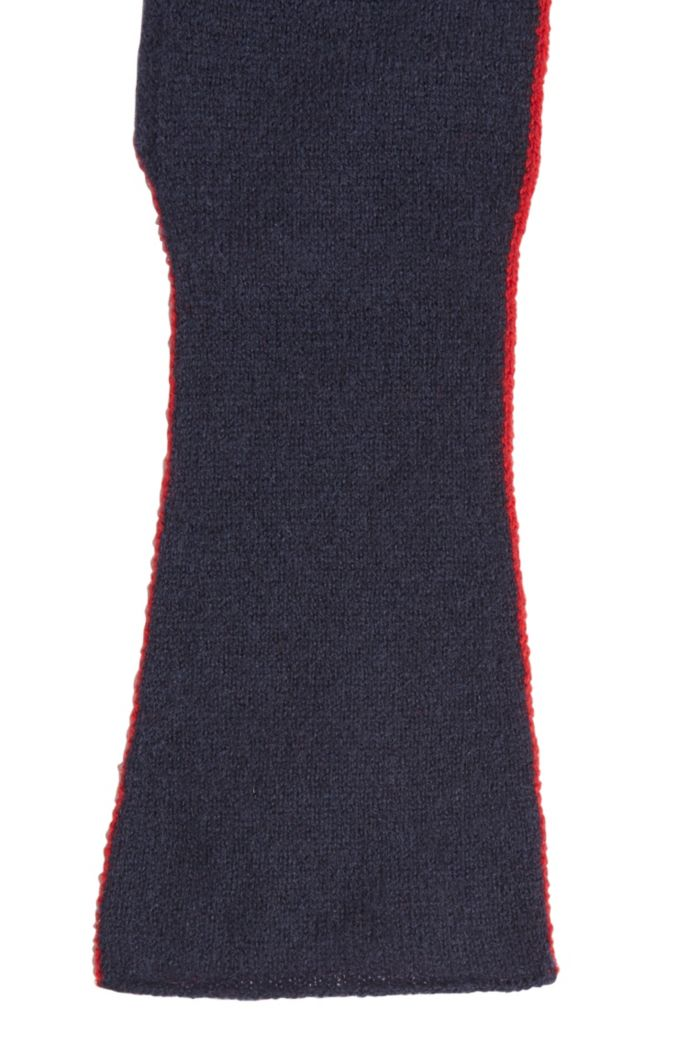 Two-tone gloves in virgin wool with cashmere
