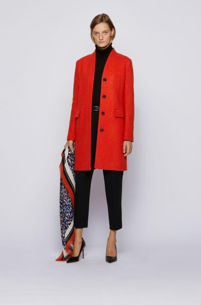 Eleganter Mantel aus meliertem Woll-Mix