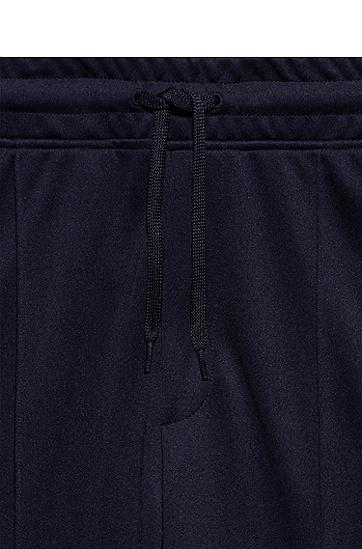 带徽标饰带饰边的毛圈布慢跑长裤,  405_暗蓝色