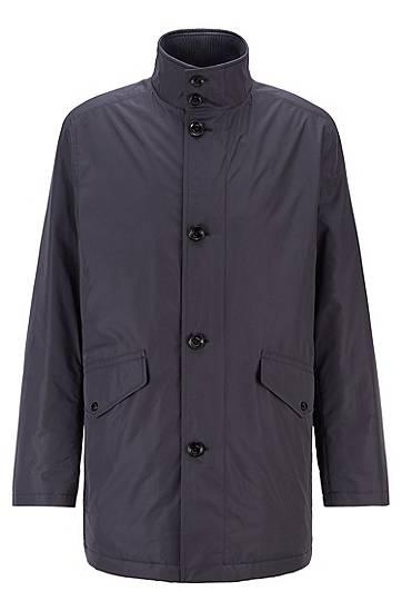 Manteau à col montant doublé de maille