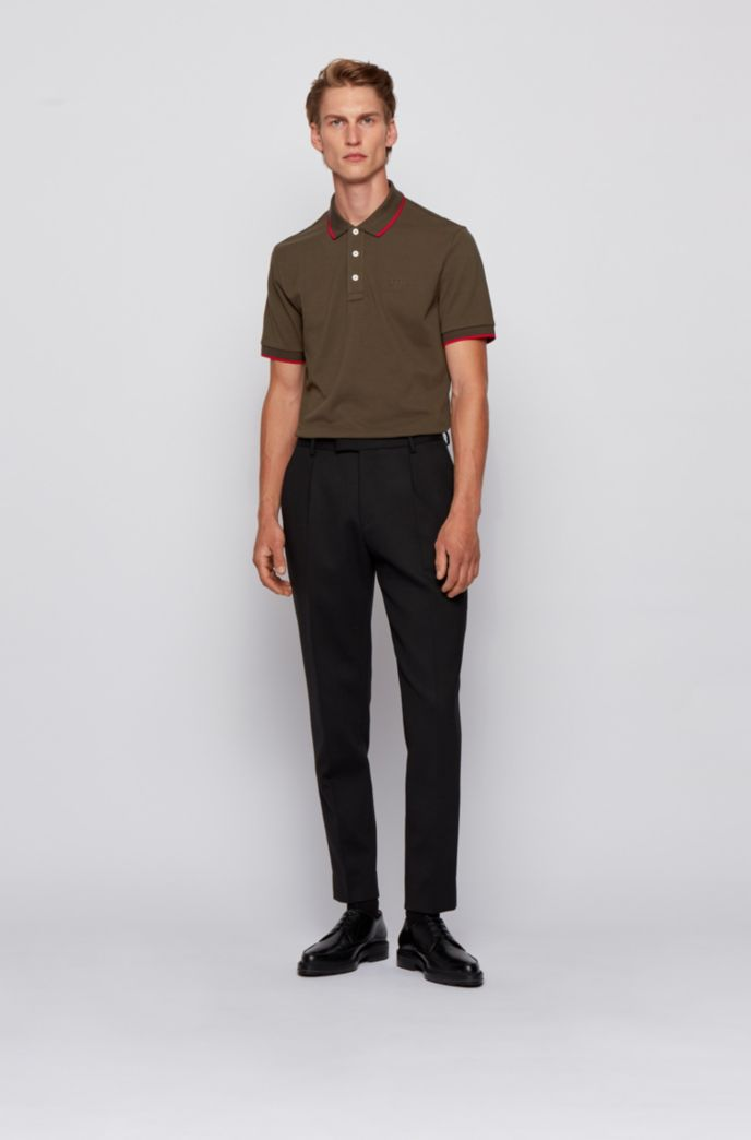 Polo shirt in organic cotton and recycled yarns