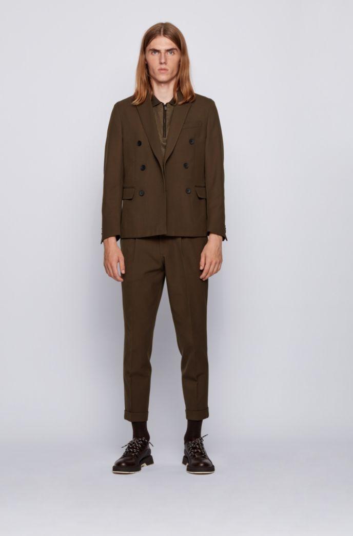 Polo Slim Fit en coton à motif pied-de-poule