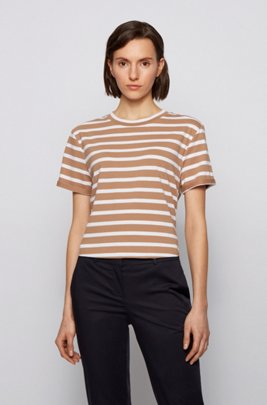 Relaxed-fit T-shirt in an organic-cotton blend, Patterned