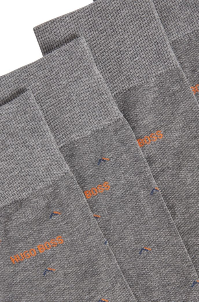 Two-pack of socks in a mercerised-cotton blend