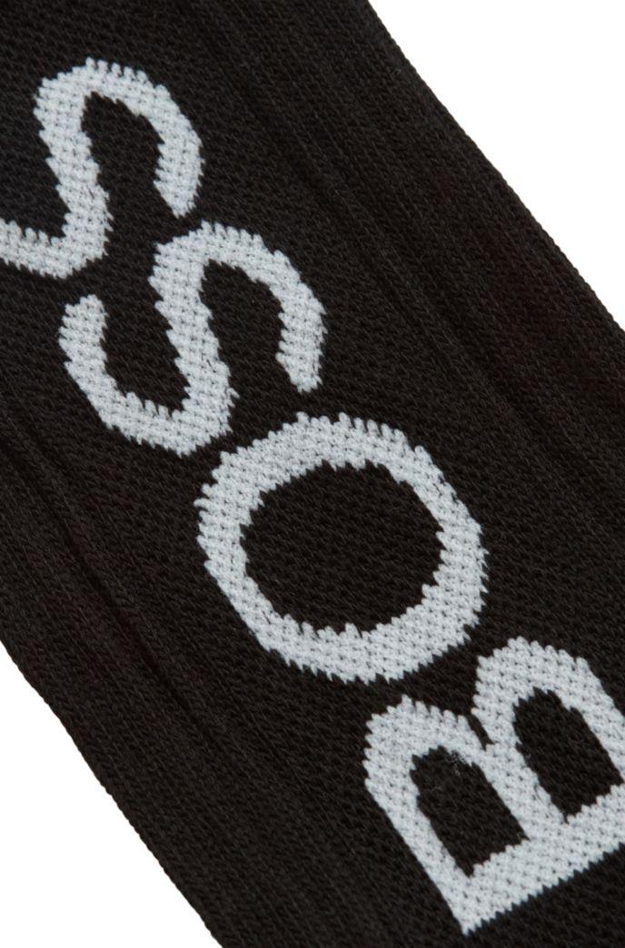 Quarter-length logo socks in a cotton blend