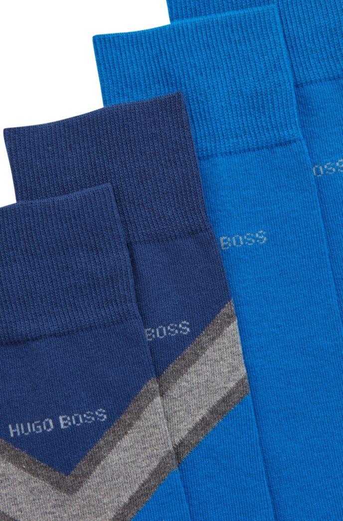 Mittelhohe Socken aus gekämmtem Gewebe im Zweier-Pack