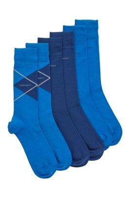 Geschenk-Set mit mittelhohen Socken im Dreier-Pack, Hellblau
