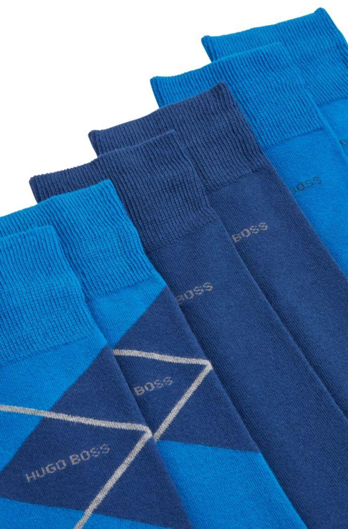 Geschenk-Set mit mittelhohen Socken im Dreier-Pack