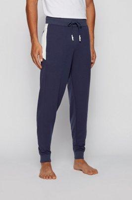 Logo loungewear trousers in lightweight French terry, Dark Blue