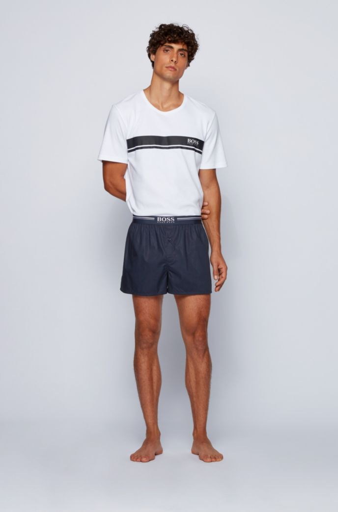 Two-pack of pyjama shorts in cotton poplin
