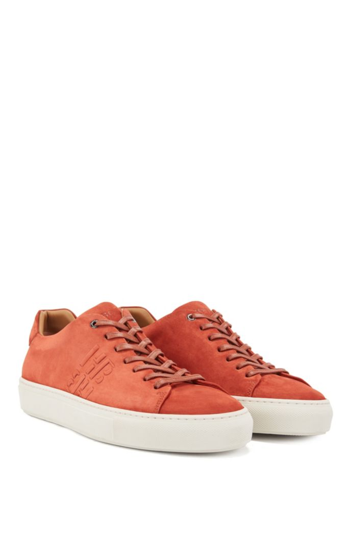 Monogram trainers in Italian suede