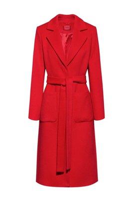 Manteau Relaxed Fit style kimono avec ceinture, Rose clair