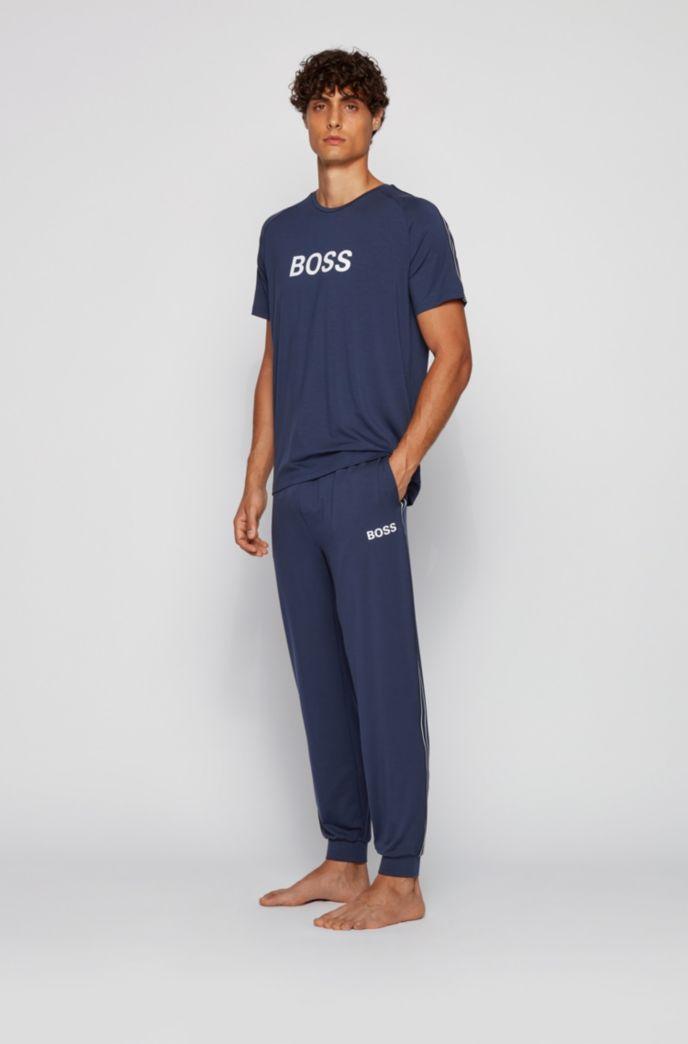 Logo pyjama T-shirt in lightweight stretch jersey