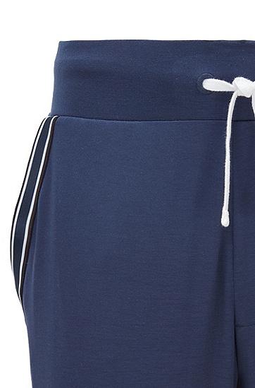 环保 TENCEL™ Lyocell 面料徽标装饰睡衣套装,  402_暗蓝色
