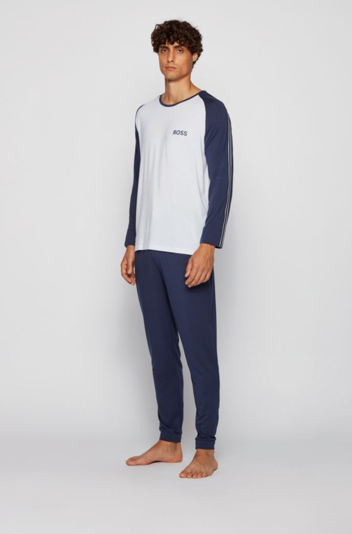 Logo pyjama set in responsibly sourced TENCEL™ Lyocell