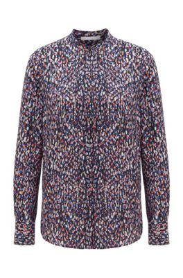 Relaxed-fit blouse with all-over print, Patterned