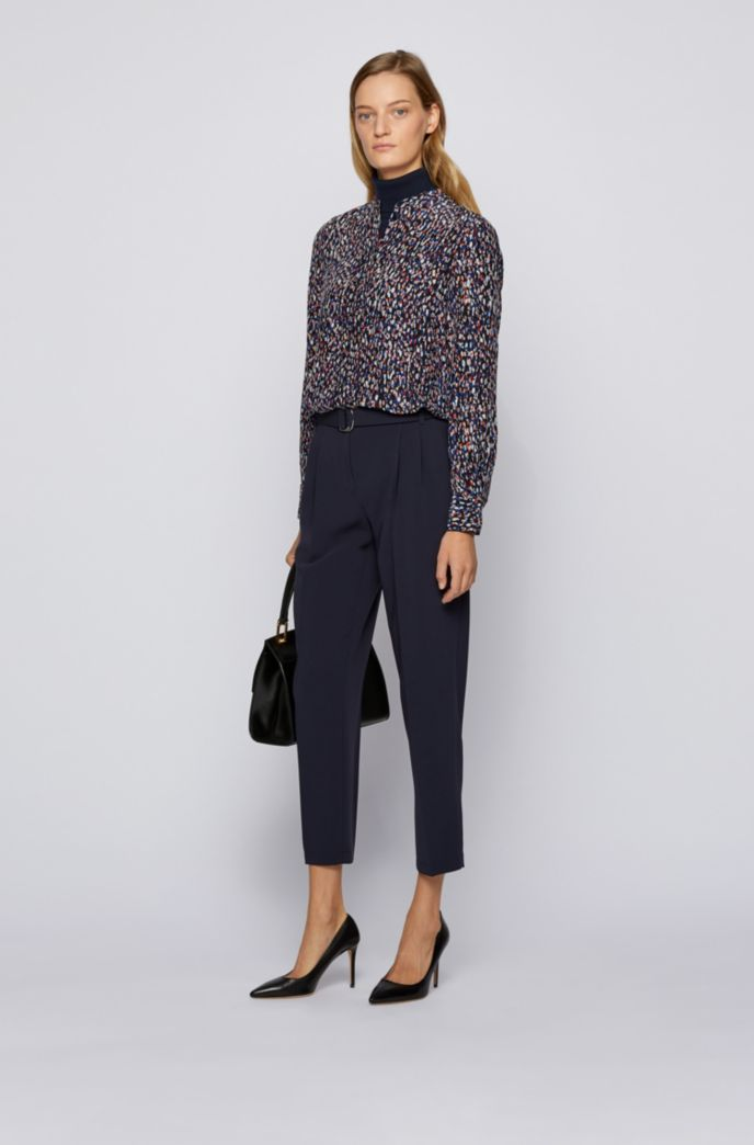 Relaxed-fit blouse with all-over print