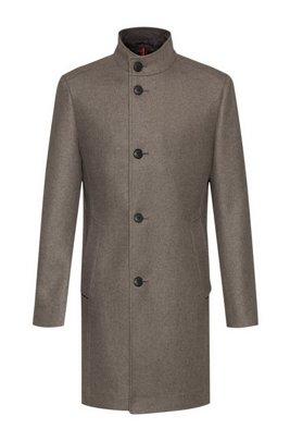 Cappotto formale in misto lana con imbottitura, Marrone chiaro