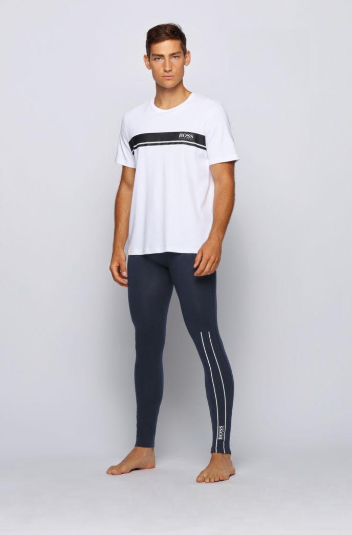 Lange onderbroek van stretchkatoen met thermisch gehecht logo