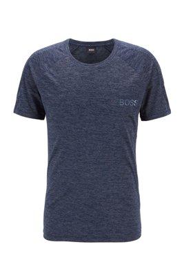 T-shirt Slim Fit à logo brillant, Bleu foncé