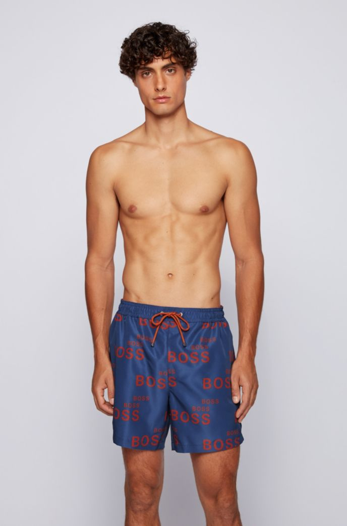 Logo-print swim shorts in quick-drying fabric