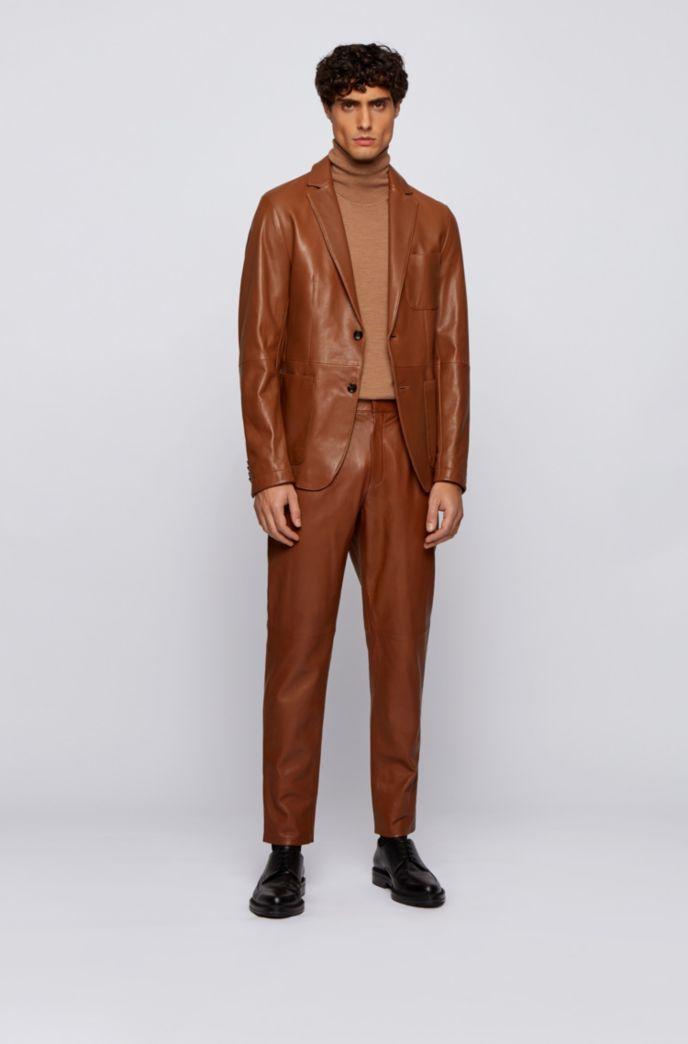Slim-Fit Jacke aus Leder