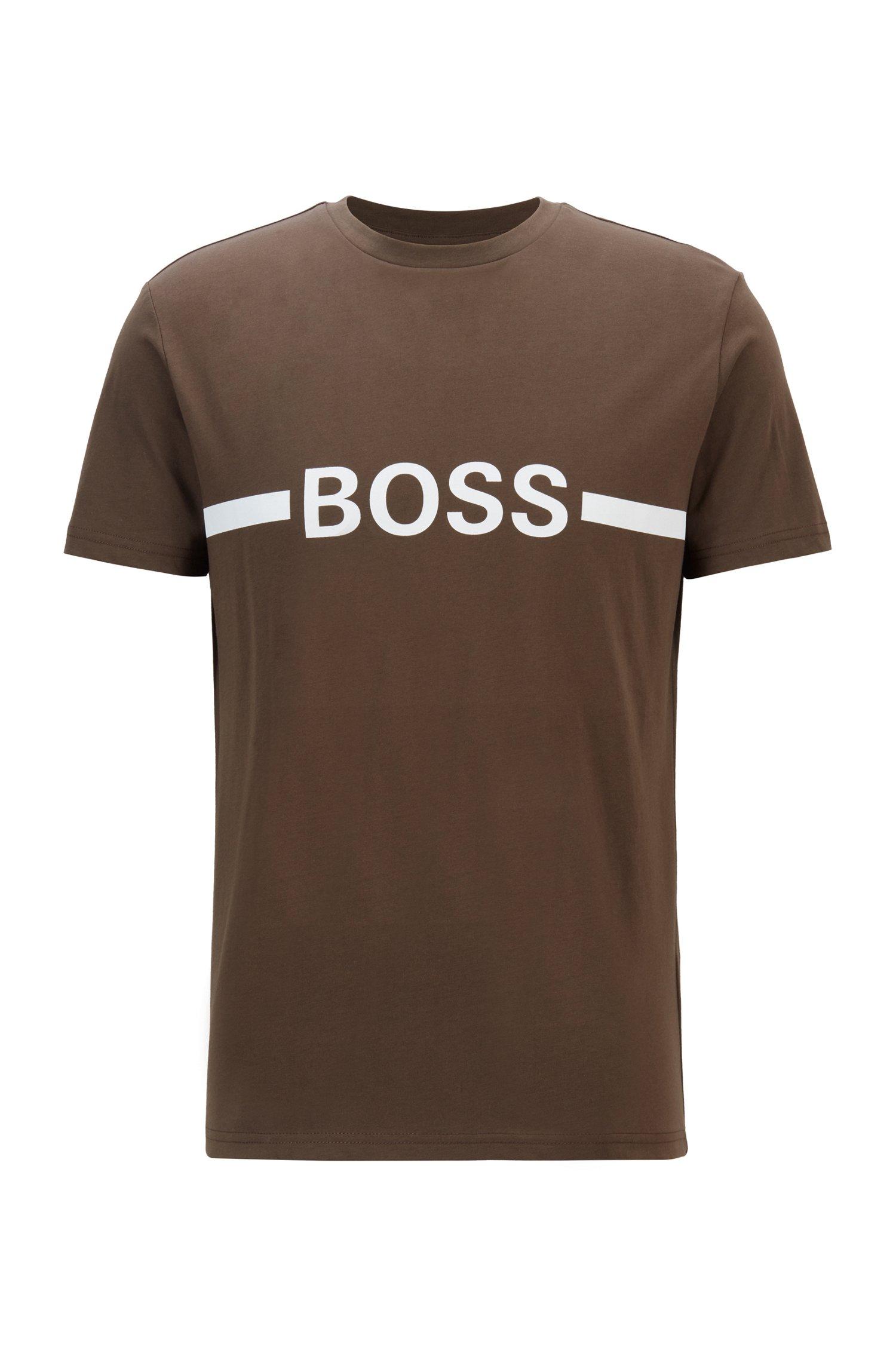 Slim-Fit T-Shirt aus Baumwolle mit UV-Schutz, Khaki