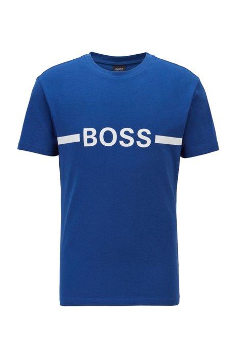 Slim-Fit T-Shirt aus Baumwolle mit UV-Schutz, Blau