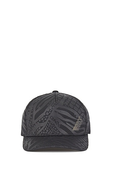 印花高科技面料运动帽,  001_黑色