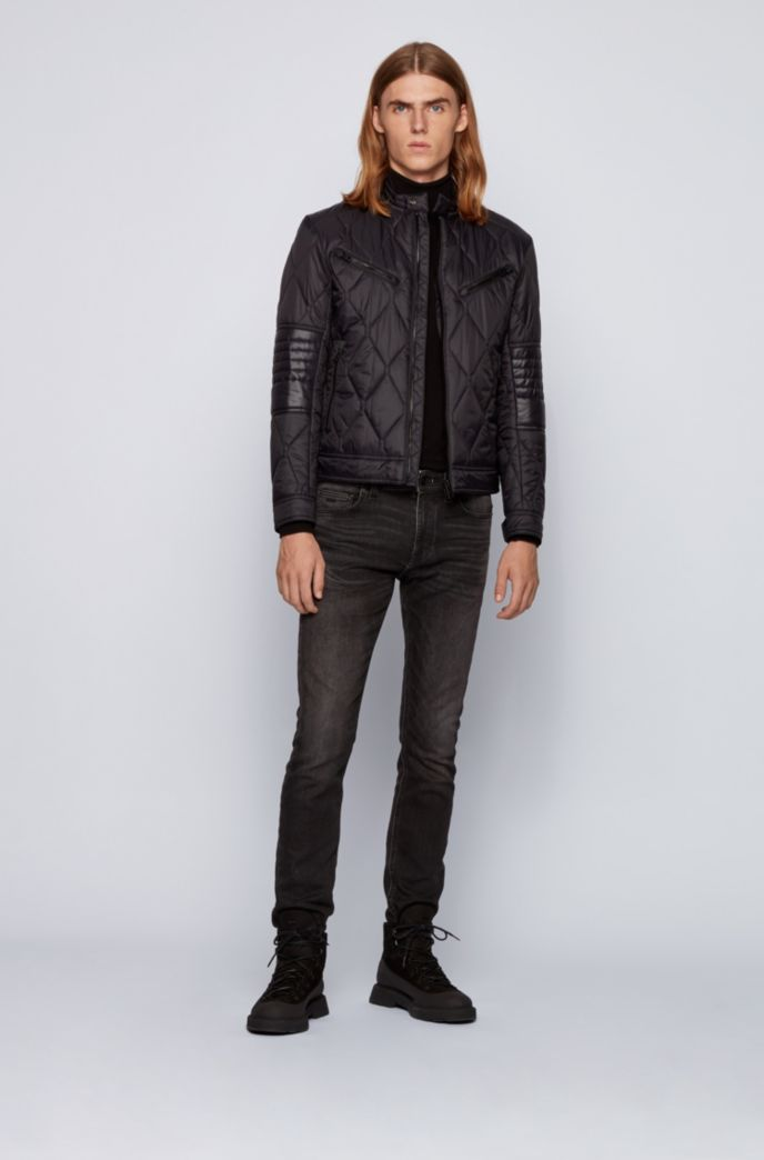 Slim-fit quilted jacket with water-repellent finish