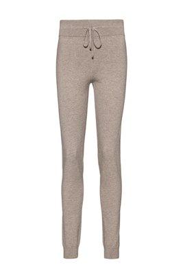 Pantalones regular fit en mezcla de algodón orgánico, Marrón claro