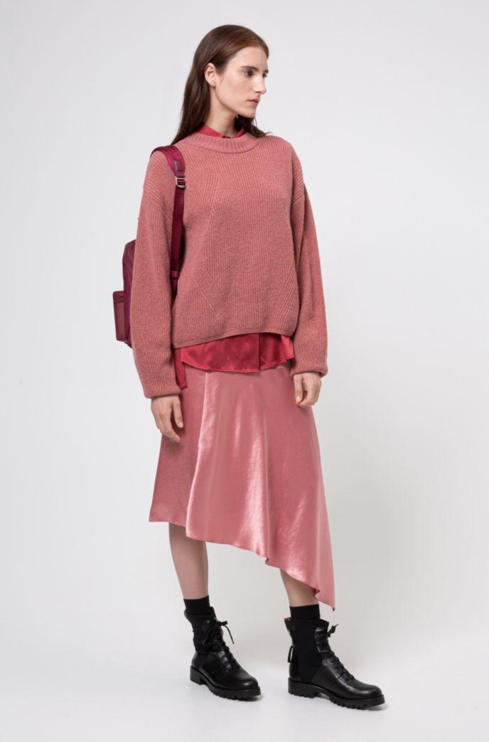 Jersey oversize fit de hilo de mezcla de alpaca