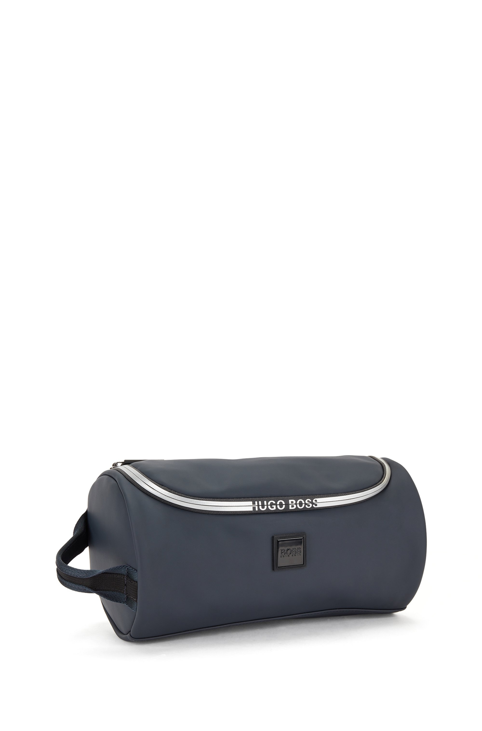 Logo-trimmed washbag in water-resistant faux leather