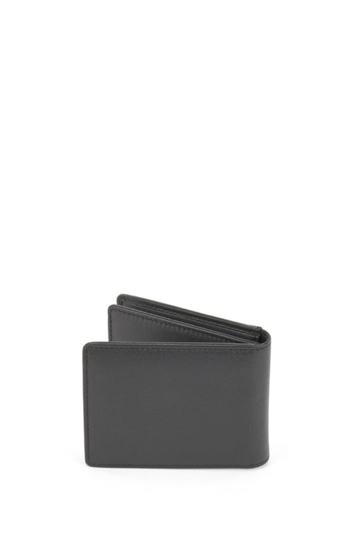 Tri-fold wallet in nappa leather with coin pocket
