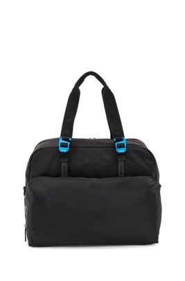 Soft holdall with tonal logos, Black