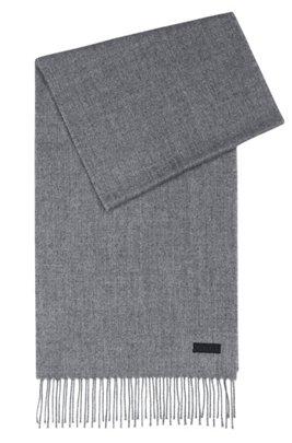Sjaal met gespiegelde logopatch, Donkergrijs
