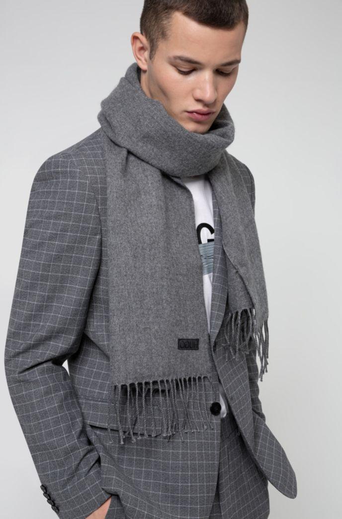 Sjaal met gespiegelde logopatch