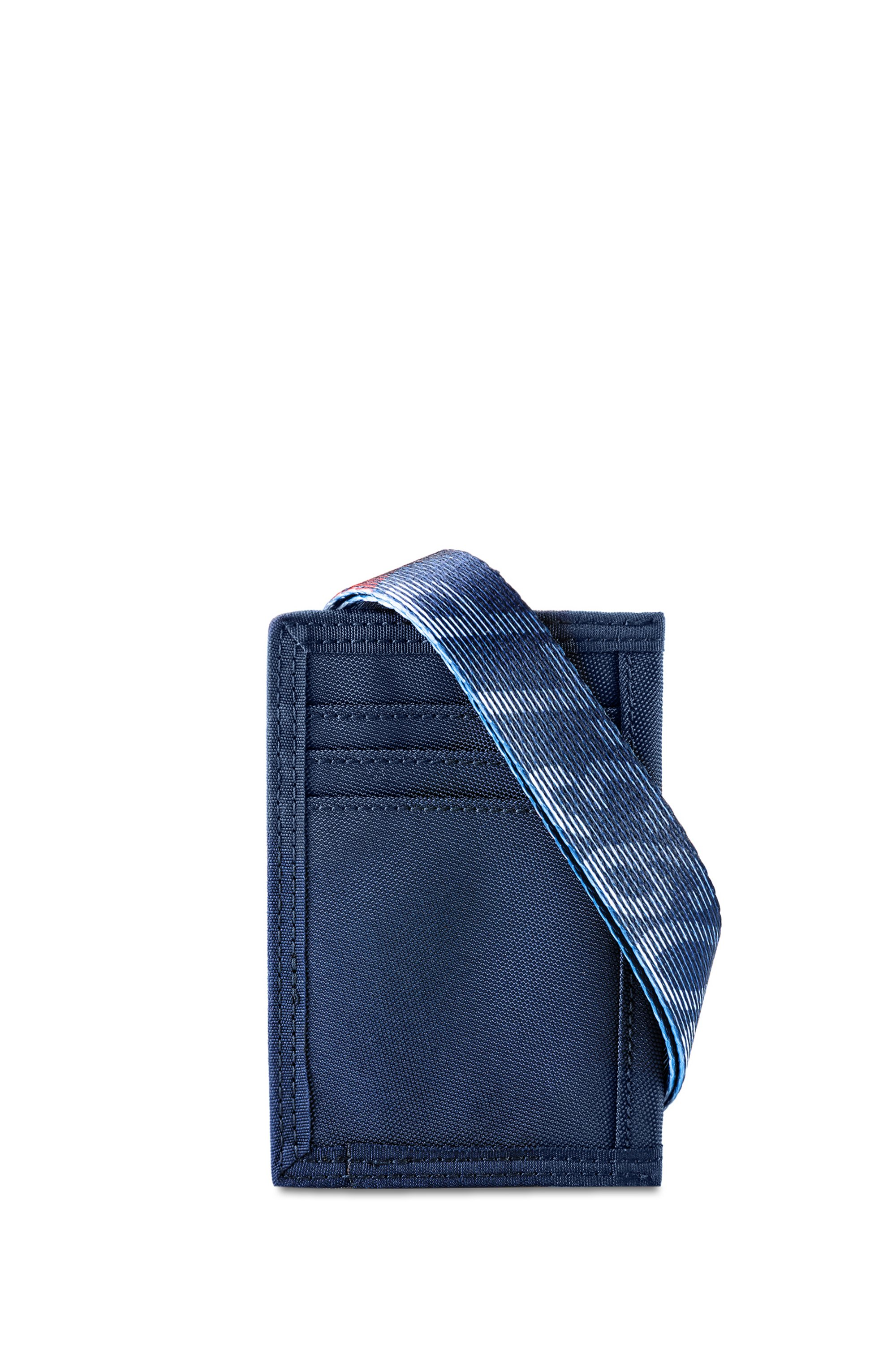 Unisex Nylon card holder with HUGO '93 branded webbing strap