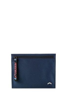 Enveloptas van technisch materiaal met geweven bandje met logoprint, Donkerblauw