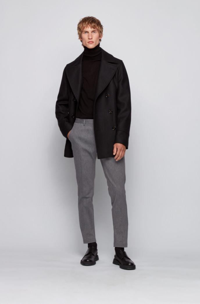 Chino Slim Fit en tissu mouliné de coton stretch