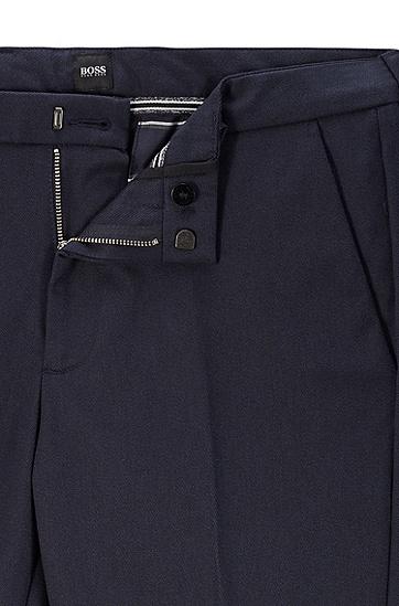 修身版 mouliné 弹力棉休闲裤,  402_暗蓝色