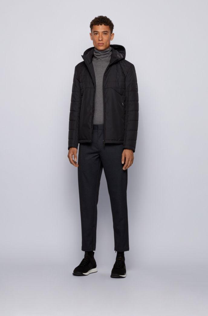Slim-Fit Hose aus bedrucktem Stretch-Jersey