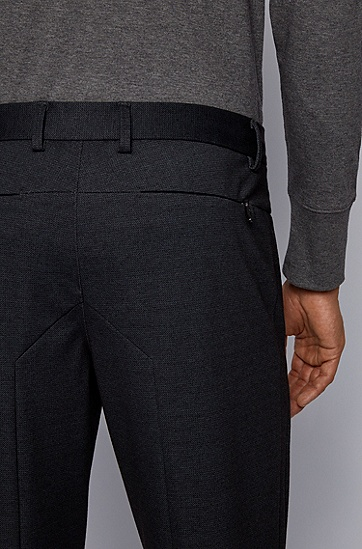 男士修身裤,  001_黑色